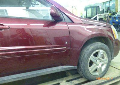 Minivan Door Damage Repaired