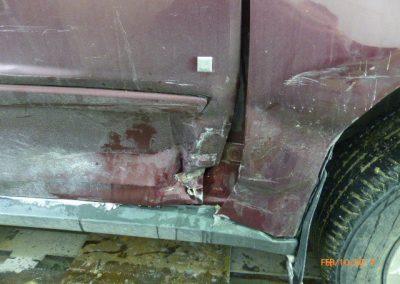 Minivan Door Damaged Before